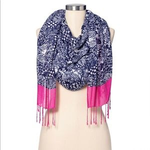 New Lilly Pulitzer Target Pink Navy Upstream Scarf